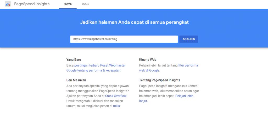 mengenal google pagespeed insight