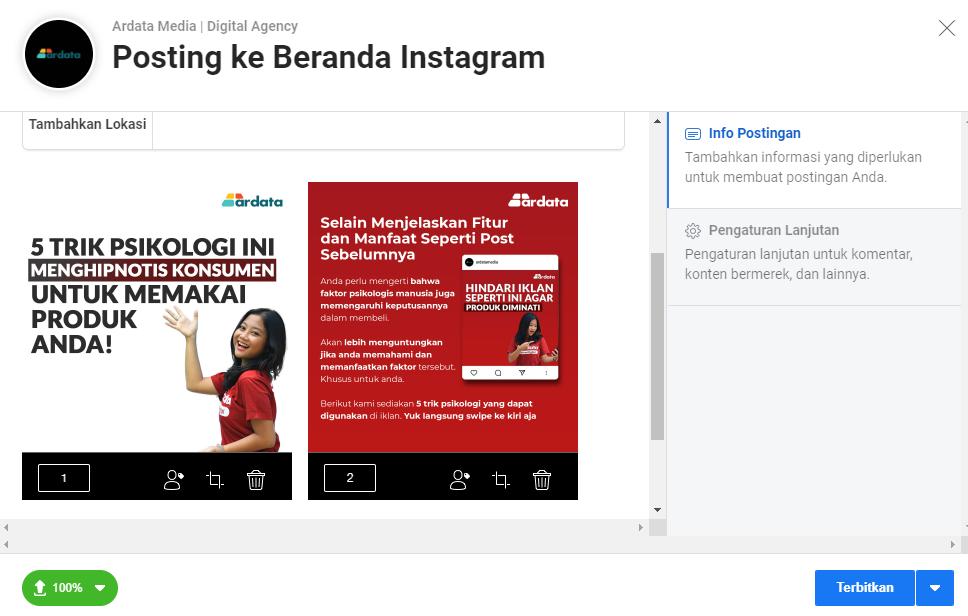 cara upload banyak foto di Instagram lewat PC