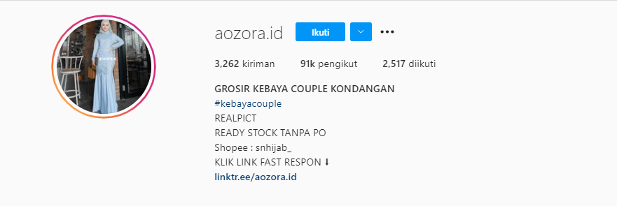 Bio Instagram Fashion