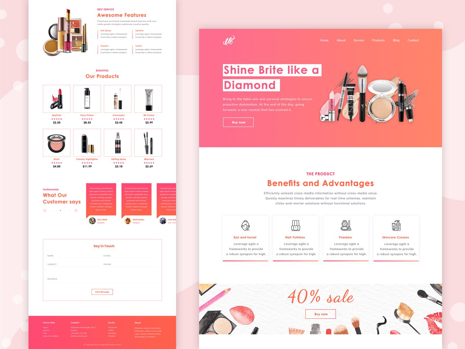 Tema Landing Page Kosmetik Materialup