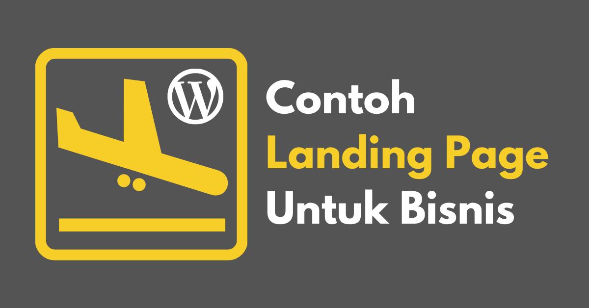 Contoh Landing Page Untuk Bisnis