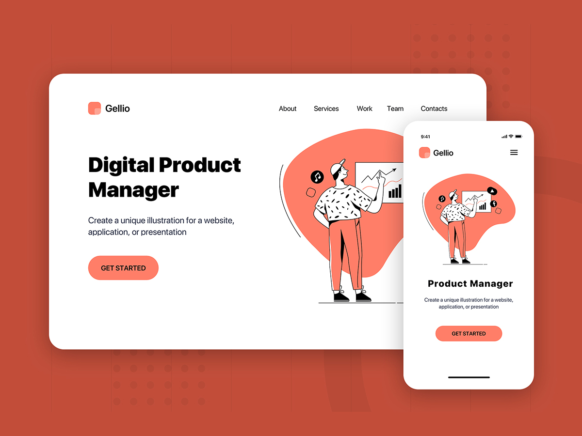 contoh landing page digital product