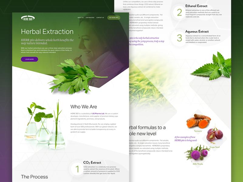 contoh landing page produk herbal